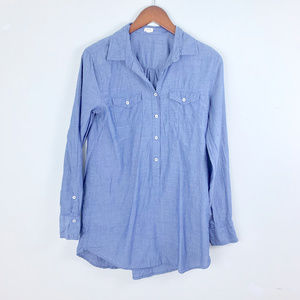FREE W PURCHASE -- J Crew Chambray Popover